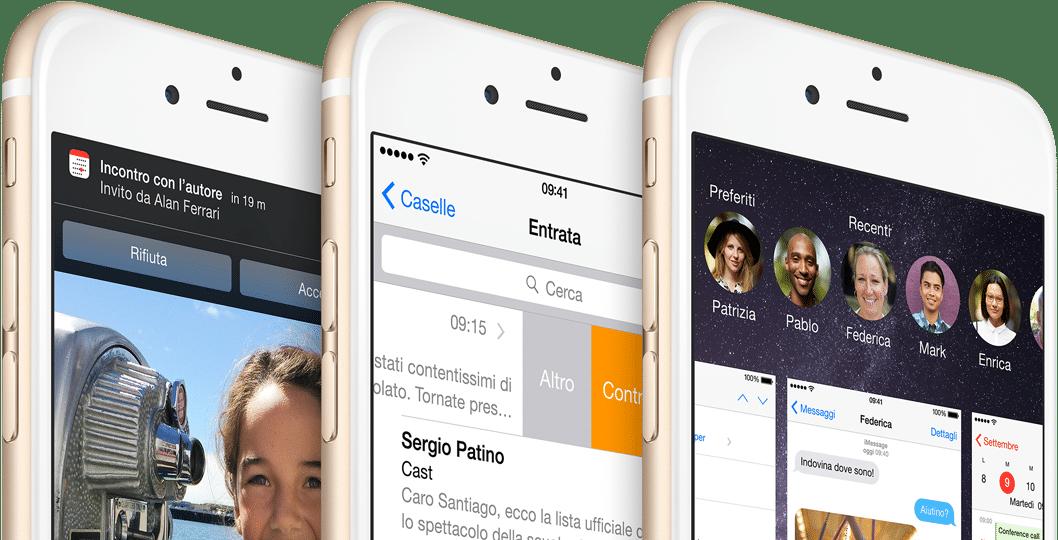 Aggiornamento iOS 8 iPhone