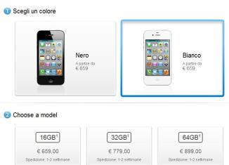 iPhone 4S: prezzi Italia