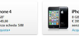 Prezzo iPhone 4 e iPhone 3GS