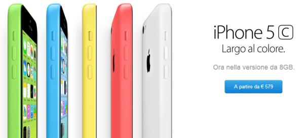 Prezzo iPhone 5C da 8 GB