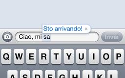 Sa, iPhone scrive Sto arrivando