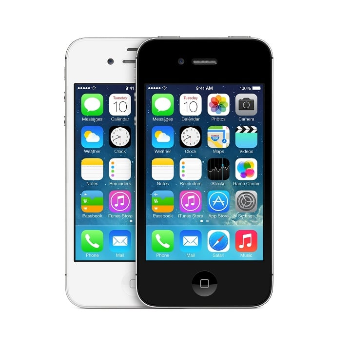 iPhone 4S con iOS 7