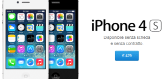 iPhone 4S prezzo 429 euro