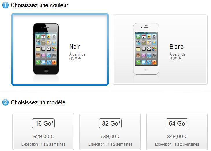 Prezzi iPhone 4S