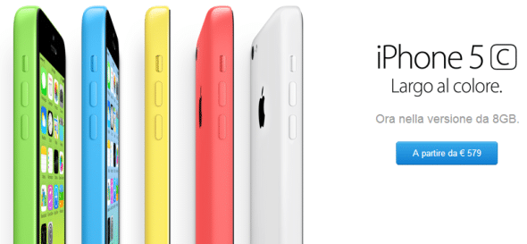 Prezzo iPhone 5C da 8 GB