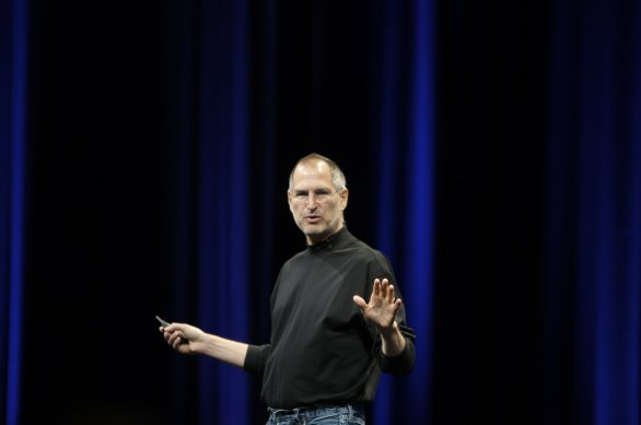 Steve Jobs durante una presentazione Apple keynote